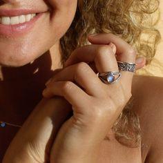 Maansteen ring Mata - 925 zilver - My Unique Style My Unique Style, Your Style, Jewellery, Unique Jewelry, Rings, Beautiful, Jewels, Schmuck, Ring