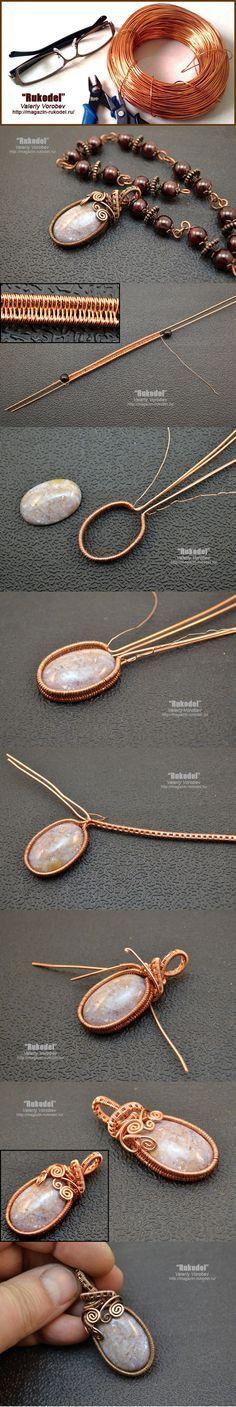 Бижутерия из проволоки. Wire Wrap Pendant  – magazin-rukodel.ru/