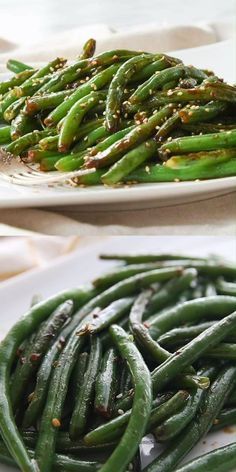 style These restaurant style easy green beans are the favorite vegetable at our house.restaurant style These restaurant style easy green beans are the favorite vegetable at our house. Fresh Green Bean Recipes, Cooking Fresh Green Beans, Sauteed Green Beans, Garlic Green Beans, Best Asparagus Recipe, Grilled Asparagus Recipes, Baked Asparagus, Vegetarian Recipes, Cooking Recipes