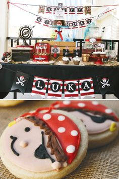 Fantastic {Red & White Striped} Pirate Party.  It's not too early to plan for party #2...right??  LOVE this!