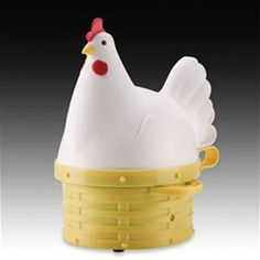 Maverick Harriett Hen #Egg #Cooker chirps when her eggs are ready Hard or Soft boiled up to 7 eggs, only $24.99