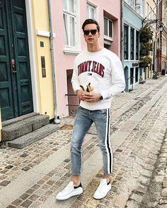 Macho Moda - Blog de Moda Masculina  CALÇA JEANS com LISTRA a1a6b10c615