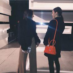 「@bellahadid wearin our mini mo bag #chromeheartsofficial @weworewhat」