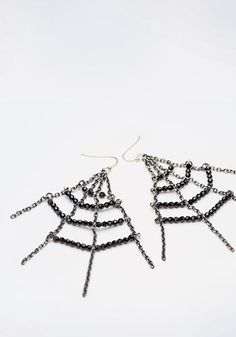 Halloween Earrings Spider's Web - accessories - jewelry -  Swarovski - sparkly shiney crystal bling DIY handmade - make your own
