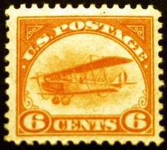 #C1 Air Post 6c Orange 1918 XF MLH  - Browse 1500 Rare Stamps on Sale LittleArtTreasures.com or http://stores.ebay.com/Little-Art-Treasures