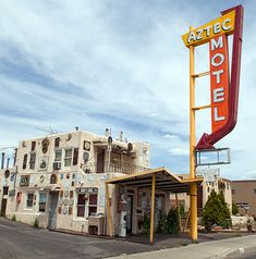 Known as the Aztec Auto Court in the 1930's, this funky Pueblo style motel is said to be New Mexico's oldest continuing operated motel on Route 66.