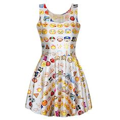 Ninimour- 3 D Digital Print Emoji Print Skater Dress Club... https://www.amazon.com/dp/B00SGK560K/ref=cm_sw_r_pi_dp_x_JaMKybQX64JGZ