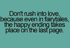 Because even in fairytales, the happy ending takes place on the last page.