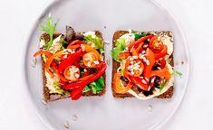 Easy Hummus & Roast Vegetable Salad Sandwich (meal prep, gluten-free, vegan) | Liezl Jayne