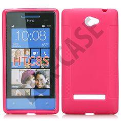 Soft Shell (Sterk Rosa) HTC Windows Phone 8S Deksel