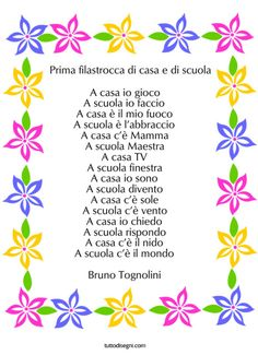 filastrocca-accoglienza-scuola Fairy Tales, Birthdays, Bullet Journal, Teaching, School, Geography, Winter, Quotes Kids, Birthday
