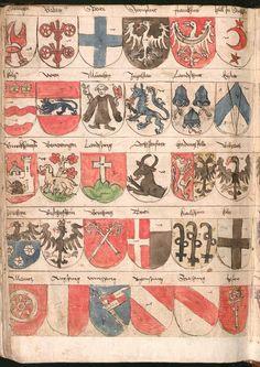Wernigeroder (Schaffhausensches) Wappenbuch Süddeutschland, 4. Viertel 15. Jh. Cod.icon. 308 n  Folio 259v