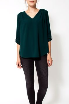 Ombrette Blouse Green From Sienna With Love