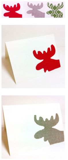 The Simple Moose Christmas Card | So cute! #DIY