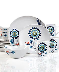 Dansk Dinnerware, Classic Fjord Tweet 16-Piece Set - Casual Dinnerware - Dining & Entertaining - Macy's