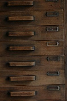 Close up of antique Japanese drawers