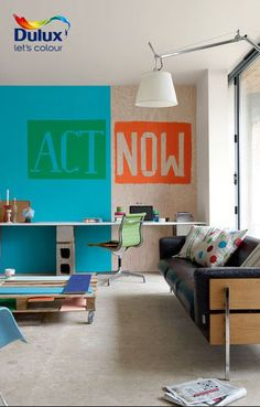 Looking for bold #decorating ideas? Celebrate chaos with bold colour palettes >> http://www.dulux.co.za/en/inspiration/celebrate-chaos-with-bold-colour-palettes