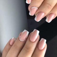 Pastel Pink Nails, Pink Nail Colors, Cute Pink Nails, Pink Nail Art, Art Nails, Perfect Nails, Gorgeous Nails, Pretty Nails, Square Nail Designs