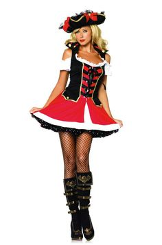 Aye Aye Admiral Costume by Leg Avenue - Pirate wenches and swashbuckling captains, sexy pirate costumes  #sparklingstrawberry #fancydress #pirate #pirates #piratesofthecaribbean #costume #fun #sexy #fantasy #fun