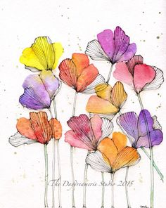 weeds are flowers too once you get to know them winnie the pooh Watercolor and pencil weeds are flowers too once you get to know them winnie the pooh Watercolor and pencil Cornelia Daum Skizzen nbsp hellip Painting pencil Watercolor And Ink, Watercolor Illustration, Watercolour Painting, Watercolor Flowers, Painting & Drawing, Drawing Flowers, Watercolors, Art Floral, Winnie The Pooh