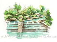 Landscape Architecture Perspective Drawings beautiful hand-drawn sectionland8 member jay everett | hand