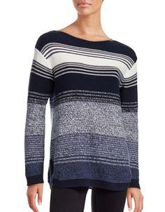 TOMMY HILFIGER Tommy HilfigerStriped Sweater. #tommyhilfiger #cloth #