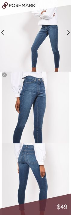 🌟N E W🌟TOPSHOP Moto Dark Blue Leigh Jeans TOPSHOP PETITE Moto Dark Blue Leigh Jeans •size W 26, L 28, brand new with tags •ask for measurements if unsure of fit •high waisted, PETITE  🌸Check out my other TOPSHOP jeans/items🌸 Topshop Jeans