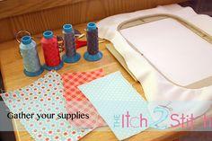 Itch 2 Stitch tutorial - How 2 Stitch a multiple fabric applique design