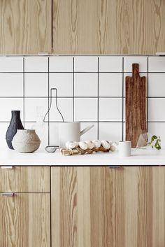 Natuurlijke houten keuken   Wooninspiratie