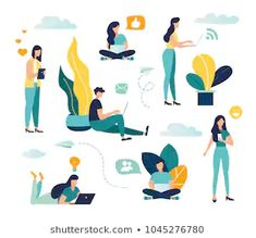 Find Vector Colorful Illustration Communication Via Internet stock images in HD and millions of other royalty-free stock photos, illustrations and vectors in the Shutterstock collection. Character Illustration, Digital Illustration, Communication, Site Internet, New Pictures, Images Photos, Free Illustrations, People Illustrations, Poster On