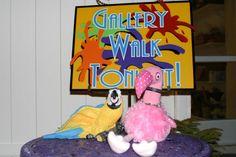 Patsy & Paulie at Gallery Walk in Downtown Punta Gorda, Florida.