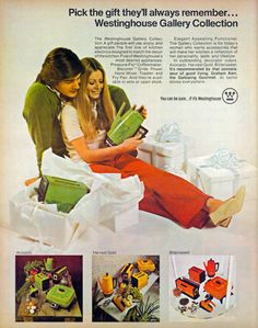Available in Avocado, Harvest Gold, and Bittersweet. Westinghouse, 1971