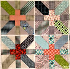 Simply Pieced: X and Plus quilt blocks.