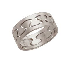 Silver Interlocking Puzzle Ring - Narrow by Ed Levin Jewelry