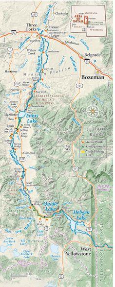 Madison River Montana River Map Montanas Matts Adventures - Montana rivers map