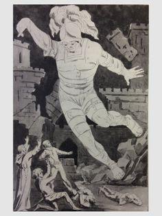 Bertie Greatheed, illustrazione per la scena conclusiva del Castello d'Otranto