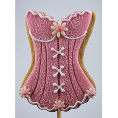 Pink Sexy Corset Lingerie Cookie / Biscuit corset sexy rose