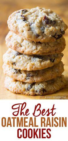 The Oatmeal, The Best Oatmeal Raisin Cookie Recipe, Soft Oatmeal Raisin Cookies, Healthy Oatmeal Cookies, Oatmeal Cookie Recipes, Oatmeal Rasin Recipe, Best Cookie Recipes, Recipe For Oatmeal Cookies, Recipes