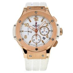 Hublot Big Bang Chronograph Rose Gold White Dial Men's Watch 301.PE.2180.RW #Hublot #LuxurySportStyles
