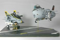 This is a great idea of a diorama using Egg Planes!