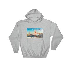 "Hooded Sweatshirt ""let's build bridges"""