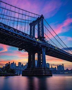 Manhattan Bridge, Brooklyn Bridge, One World Trade Center, New York Life, George Washington Bridge, First World, Nyc, City, Travel