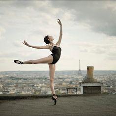 Ballerina Project in Paris: #Ballerina - @katieboren1 in #Montmartre #Paris #Bodysuit by @wolfordfashion #Wolford #WolfordBodywear #NeonStringBody #ballerinaproject_ #ballerinaproject #ballet #dance by ballerinaproject_