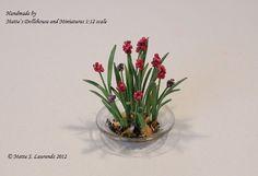 Dollhouse Miniature flower 112 Grape Hyacinth by mettelaurendz