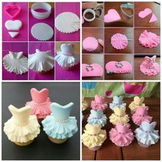 Cake decorating isn't quite as hard as it looks. Listed below are a couple of straightforward suggestions and tips to get your cake decorating job a win Fondant Flower Tutorial, Cupcake Tutorial, Cake Topper Tutorial, Fondant Flowers, Easy Cake Decorating, Cake Decorating Techniques, Cake Decorating Tutorials, Dance Cupcakes, Ballerina Cupcakes