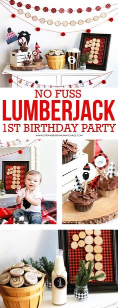 This is the PERFECT lumberjack party and a tutorial on how to throw a no fuss lumberjack birthday party!