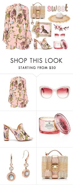 """Summer Romper"" by neverboring ❤ liked on Polyvore featuring Nicholas, Oscar de la Renta, Aquazzura, Voluspa, Michael Kors, Mark Cross, Tori Praver Swimwear and polyvoreeditorial"