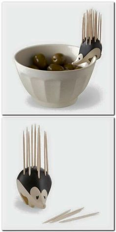 Kipik Toothpick Holder // palillero puercoespin -- so cute! Cool Kitchen Gadgets, Kitchen Items, Cool Gadgets, Geek Gadgets, Cool Kitchens, Objet Wtf, Ideias Diy, Cool Inventions, Kitchen Accessories