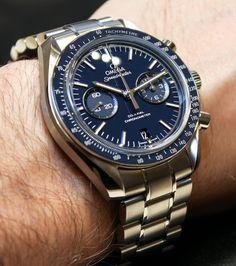 Omega Speedmaster Co Axial Chronograph Titanium Blue