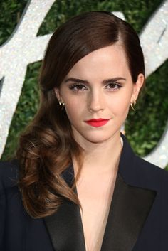 Emma Watson is also one for a brushed-up bold look, making sure to emphasize the direction they naturally grow in.